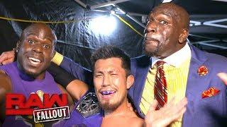 Akira Tozawa celebrates his WWE Cruiserweight Title win in two languages: Raw Fallout, Aug. 14, 2017