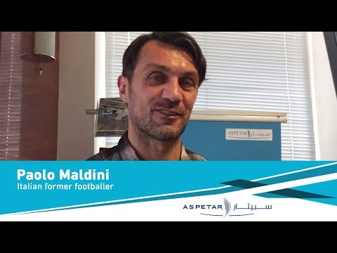 Interview with Paolo Maldini, Italian Football Legend & AC Milan Star at Aspetar