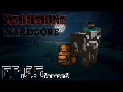 Herobrine Hardcore - Ice Skating w/ Cows