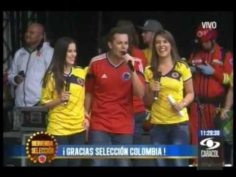 RECIBIMIENTO A LA SELECCION COLOMBIA