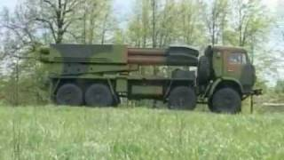 CV 9A52-4 Tornado MRLS New Russian multiple rocket launcher system Russia army Video  RIA Novosti