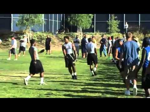 "College of the Canyons & Edison HS 7 on 7 Tournaments Valencia, CA and Huntington Beach, CA - July 2011 #8 CODY TUTTLE - 2012 GRAD, Westlake HS (CA) 6'3"" - 2..."