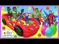 GIANT BALL PIT SURPRISE TOYS CHALLENGE Disney Cars Toys Spide...