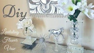 Diy Modern Levitating/ Floating Mirror Vase | Home Decorating Idea With Dollar Tree items!