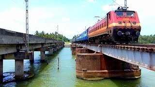 Kerala Express ROARS OVER PARAVUR BRIDGE