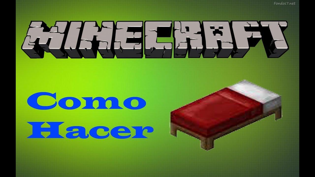 Como hacer una cama en minecraft 1 5 2 youtube for Cama minecraft