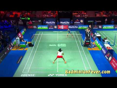 Badminton Highlights - Yonex Denmark Open 2015 - SF WS P.V. Sindhu vs Carolina Marin