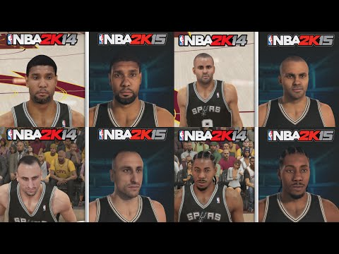 NBA 2K15 Graphics Comparison. San Antonio Spurs Roster! NBA 2K15 vs NBA 2K14