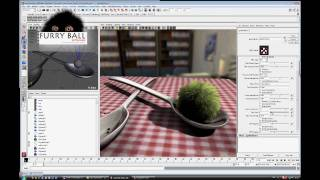 FurryBall 1.0 - 2009 -  OLD VERSION - Realtime GPU render for Maya