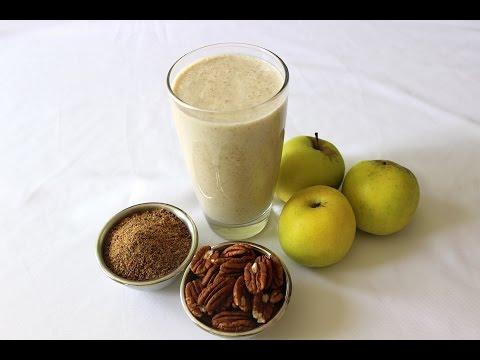 Delicioso licuado de manzana con nuez