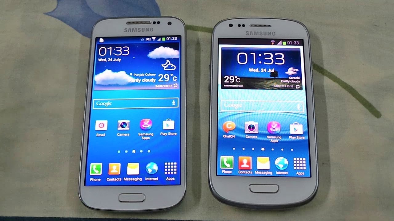 Samsung s4 Mini vs Samsung s3 Samsung Galaxy s4 Mini vs
