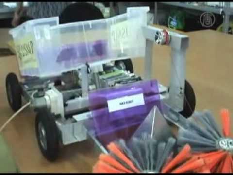 Robot reciclador peruano gana concurso en Japón