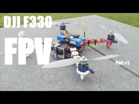 DJI F330 Proximity FPV practice flight with smaller quad Part #1
