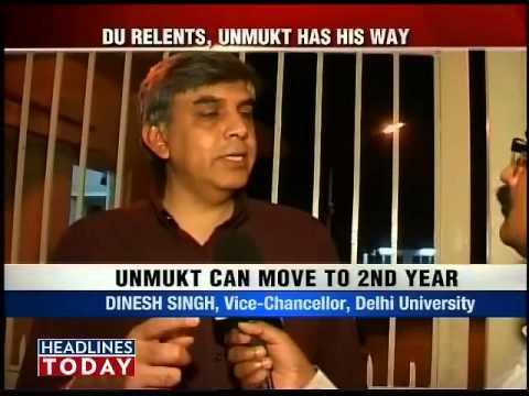 DU agrees to promote captain Unmukt