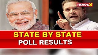State by State Poll Results, Opinion Poll, Seat Share; NewsX Polstrat, Lok Sabha Elections 2019