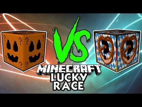 Halloween vs Oktoberfest Lucky Blocks | Minecraft Lucky Race