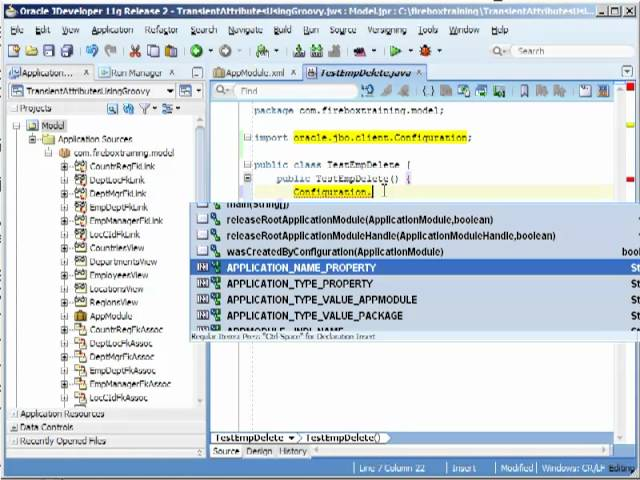 Advanced Oracle ADF Training - How to Delete Multiple Records with Oracle ADF View Objects