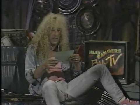 Twisted sister/dee snider guest vj, mtv 1987 headbangers ball
