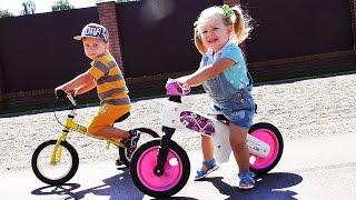 ✿ НОВЫЙ БЕГОВЕЛ МИННИ МАУС и Микки Маус Mickey Mouse Toys Minnie Mouse Strider Bike Клуб Микки Мауса