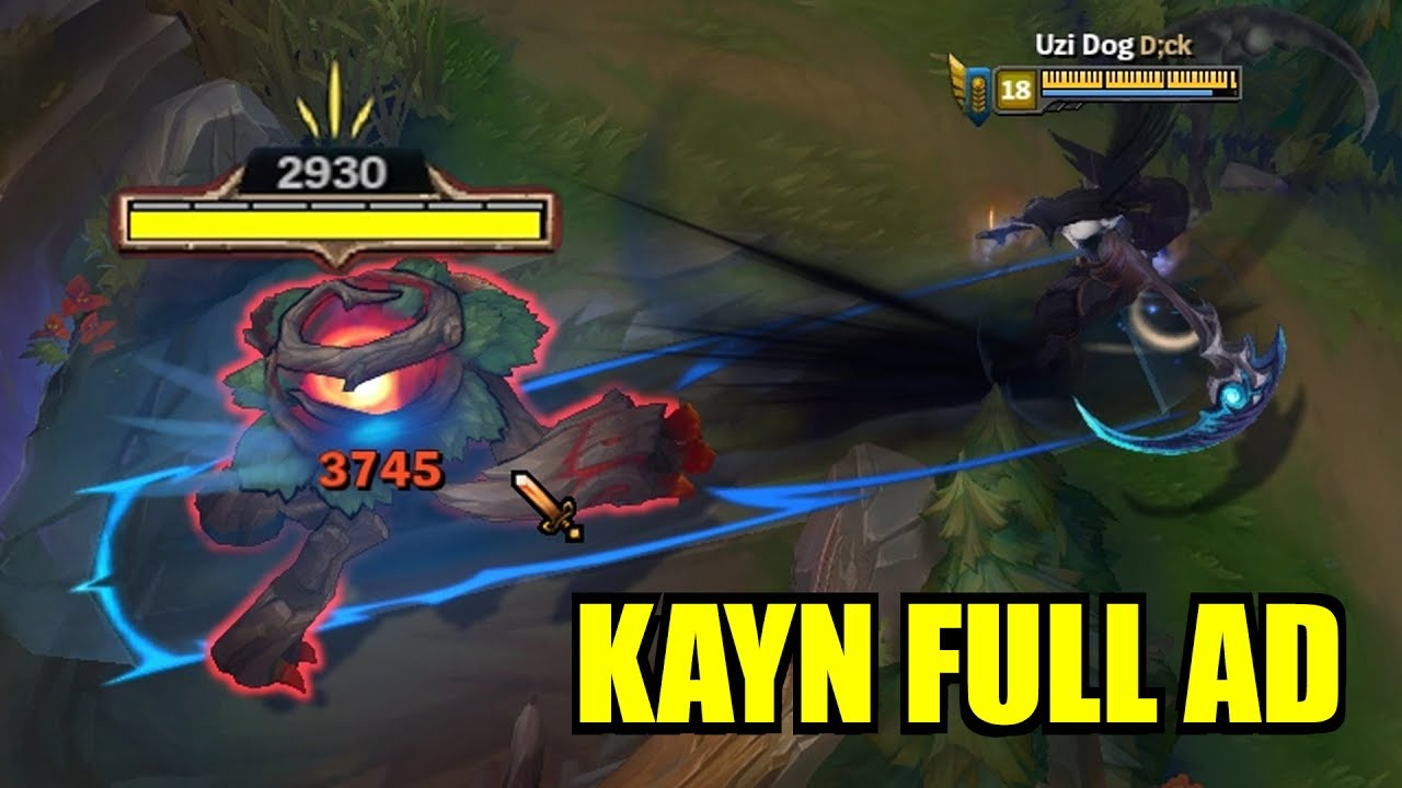 Full AD KAYN!! Insane Damage! INSTAKILLS! [ League of Legends ]