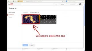 How to delete unused youtube channel art pictures