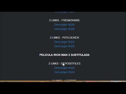Tutorial para descargar la pelicula de Iron Man 3 Español Latino