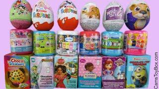 Chocolate Surprise Eggs Kinder Mashems Fashems SpongeBob Disney Sofia Powerpuff Girls Toys
