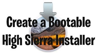 Create a Bootable USB High Sierra Installer in Mac OS X 10.13