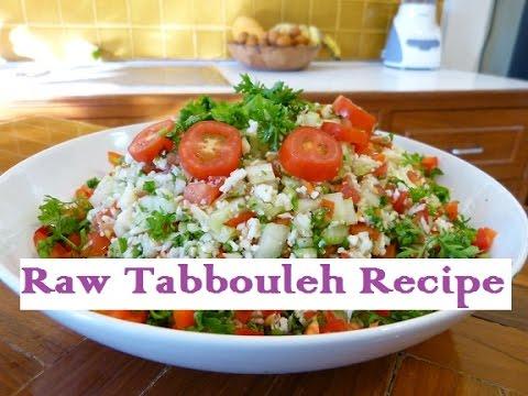 Mediterranean Tabbouleh Recipe - Raw Food Diet