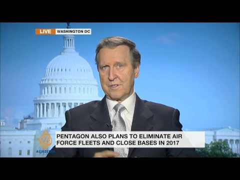 Ex-Pentagon chief discusses planned cutbacks