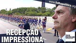 Presidente do Paraguai é recebido por Jair Bolsonaro com cerimônia impressionante no Palácio..