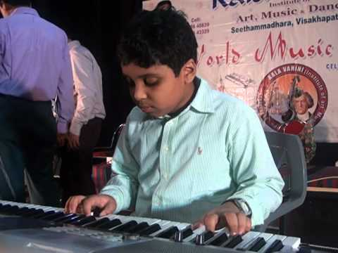 telugu songs on keyboard by anuraag chirala playing mounamelanoyi...