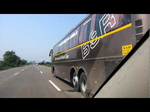 Cruising Wid A Volvo B9r On Pune-mumbai Express Highway!!!!! video