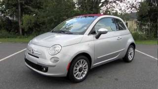 2012 Fiat 500C Lounge Start Up, Exhaust, and In Depth Tour