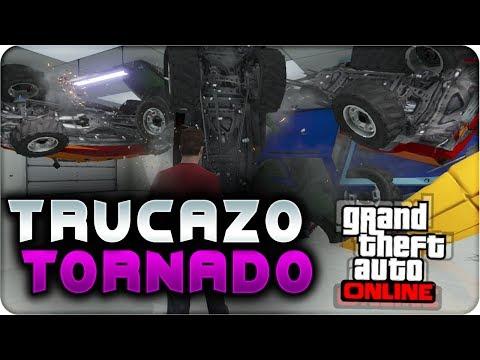 GTA 5 ONLINE 1.13 - TRUCAZO HACER UN TORNADO EN EL GARAJE - GTA V ONLINE 1.13