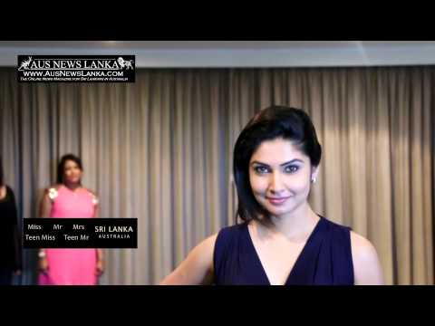 Miss Sri Lanka Australia 2014 - Behind The Scenes video