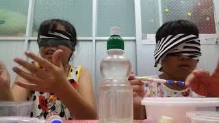 🔥Thử thách làm bịt mắt là slime cùng với chị của mình 🔥