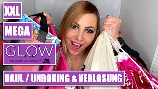 XXL GLOW by DM Haul | Goodie Bag & Better Boyfriend Bag Unboxing | Glowcon Berlin 2018