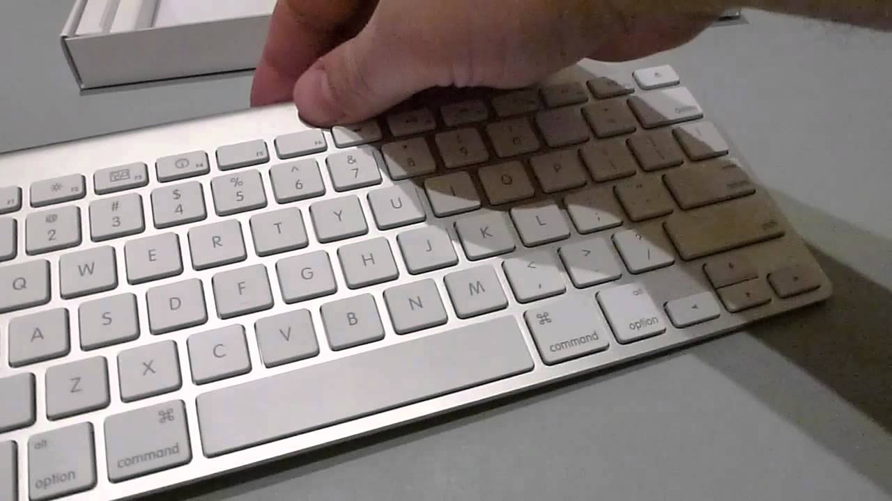 how to clean apple wireless keyboard