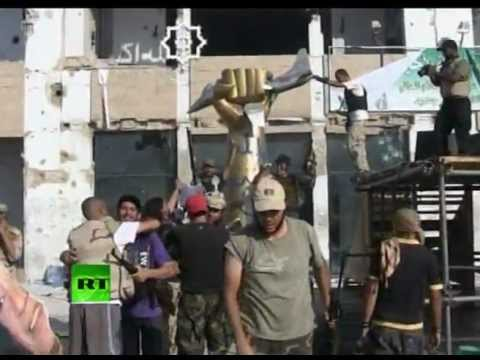 Inside Gaddafi compound: Video of Libya rebels in Bab al-Aziziya