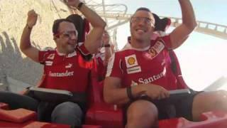 Alonso & Massa - Onboard camera on Formula Rossa - Ferrari World Abu Dhabi