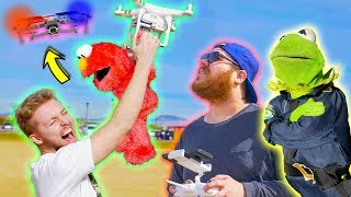 We Bought Kermit the Frog a NEW Police Helicopter Drone!