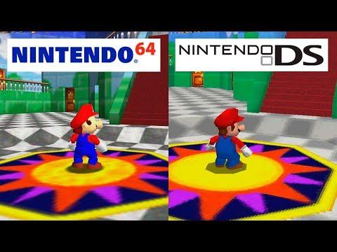 Super Mario 64 | Nintendo 64 VS Nintendo DS | HD GRAPHICS COMPARISON