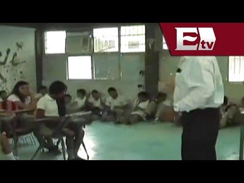 Triste regreso a clases en Hermosillo por falta de mobiliario en las aulas/ Pascal