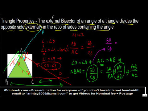 External Bisector of angle of triangle divides opposite side in ratio of of sides containing angle