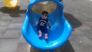 Fun Outdoor Playground for kids - Learn Colors Fun time with Abdulbaes- Funny Play Time for kids