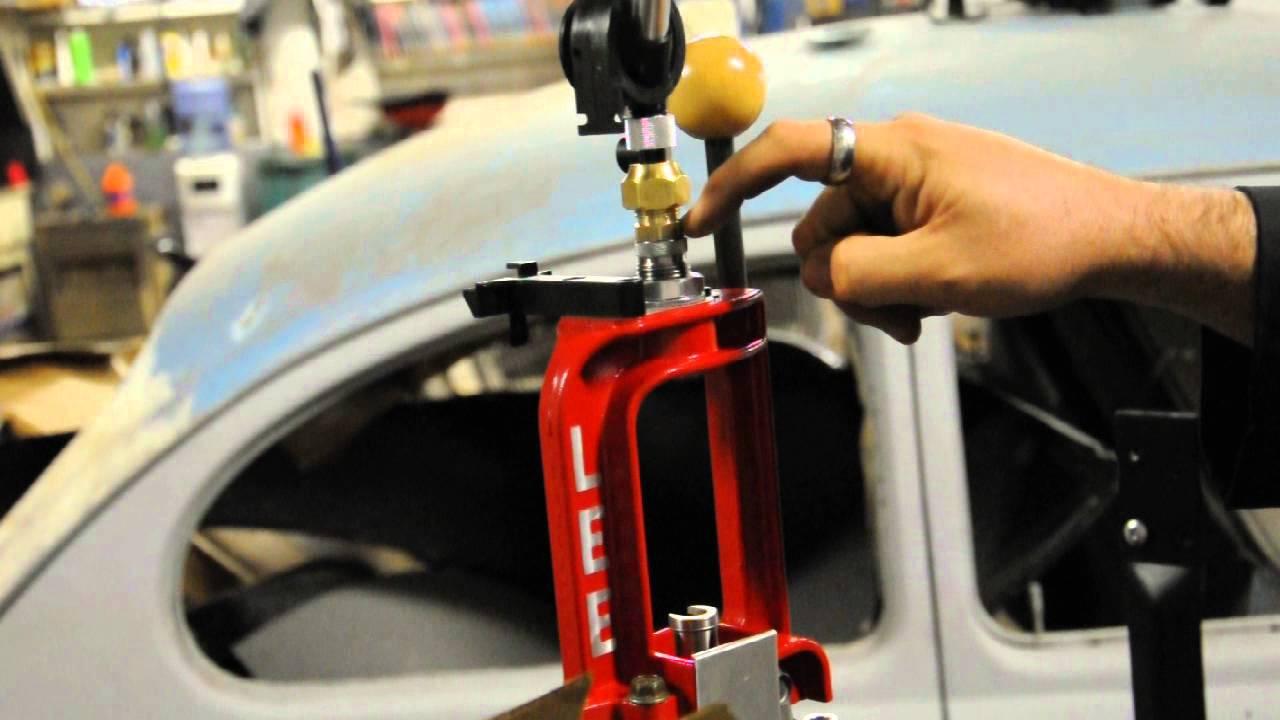 Lee Reloading Press 40 Caliber Powder Dispenser Mod Youtube