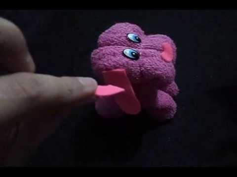 Como fazer um cachorrinho de toalha