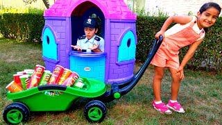 Esma play with Pringless Transport Toy trailer for kids video
