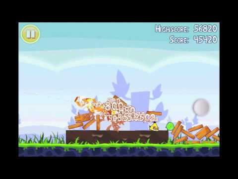 Angry Birds Lite | 3 Star Walkthrough | Level 10